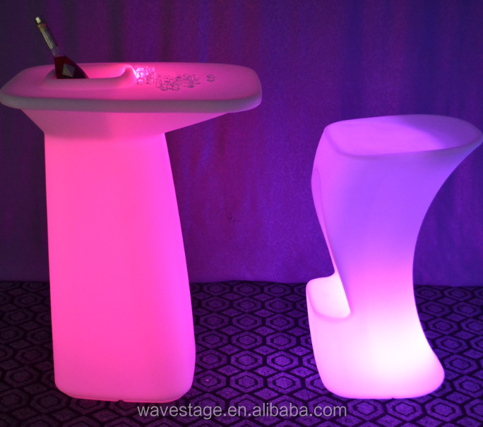 led bar furniture ice bucket table beverage outdoor ice cooler table
