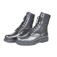 Genuine Leather Nylon Canvas Army Jungle Boots Black Military Combat Boot Sale