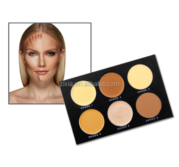 6 Colors Longlasting Private Label Oem Makeup Contour Palette Concealer Palette