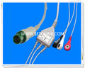 Mindray 12 Pin One Piece ECG Cable For T5 and T8 Manufacture in ShenZhen
