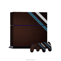 Deep brown with stripe decal sticker for ps4 + 2pcs controller skin