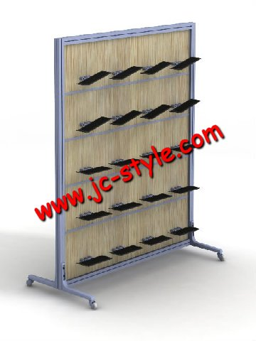 POP sport shoe store display racks for promotion/custom wooden Nude shoes display stand/sport accessory display shelf