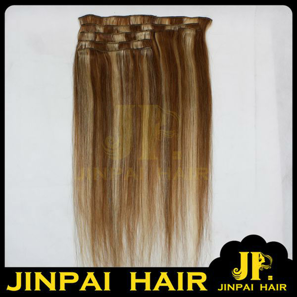 JP Hair Amazing No Fiber Clip In Hair Extensions Brazilian Weave