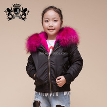 Kid wholesale custom winter bomber jacket sportswear children kids clothing