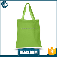 Hot sale heat seal handle custom color promotional durable cotton canvas tote bag