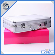 MLD-CC419 Silver Aluminium Box Beauty Travel Cosmetic Bags