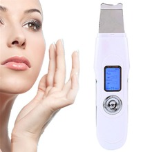 Mini Portable rechargeable ultrasonic skin scrubber for factory home use