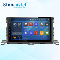 High quality Android Car dvd player for Toyota Highlander 2015 Multimedia BT Steering Wheel Control
