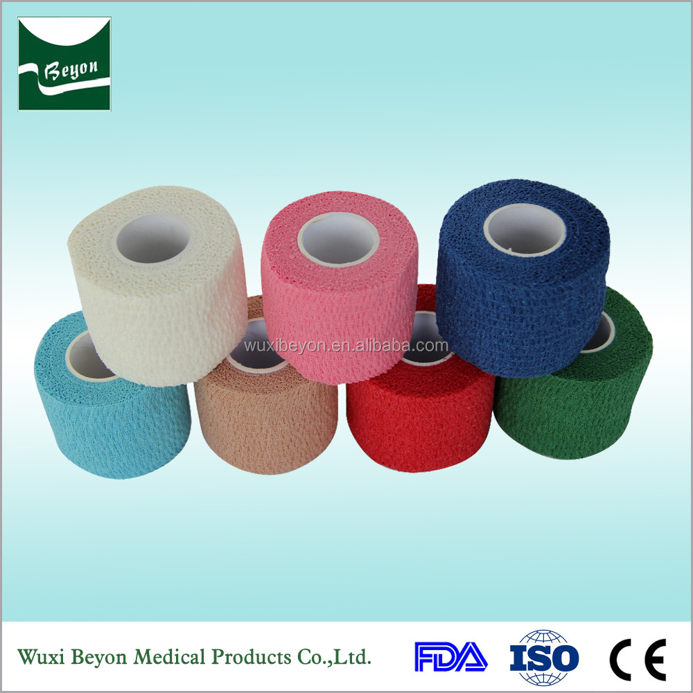 Hot products to sell online Easy tear by hand colored pet care elastic cohesive bandage