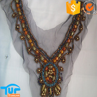 Latest fashion women beaded neckline trims for garments