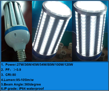5 Years Warranty 18W 27W 120LM W small size LED bulbs Retrofit Led Parking Lot Lighting