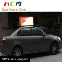 Energy saving led car advertising signs taxi top led display
