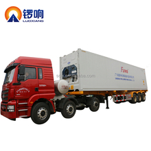 Shandong factory made container transport 20ft 40ft flatbed semi trailer