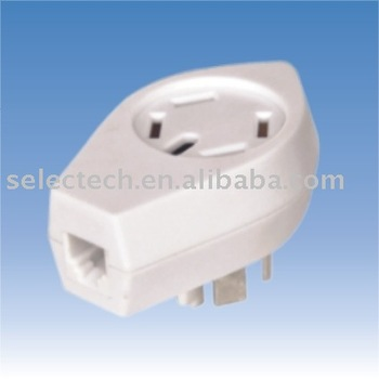 Modular cord for Sweden plug/jack to American modular jack Sweden telephone adapter SE-SD-04