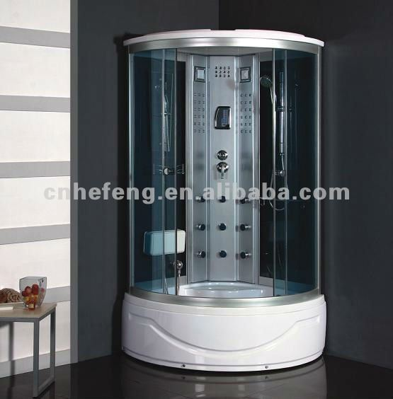 Shower cabin/luxury shower steam room portable steam room with spa tub computer controlled steam shower room