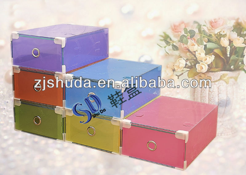 PP Nice Design Blank Plastic Shoes Box/Clear DIY Plastic Storage Box