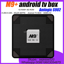 M9+ tv box Amlogic S905 android TV Box with Quad Core Smart Min Android 5.1 tv box M9+