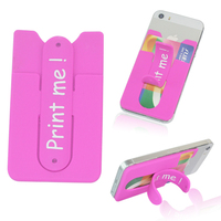 handphone back silicone business card holder