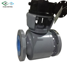 Cast body carbon steel WCB 2 pieces flanged trunnion mounted ball valve