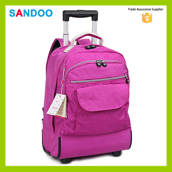 Fashion students travel laptop trolley bag, school trolley bag