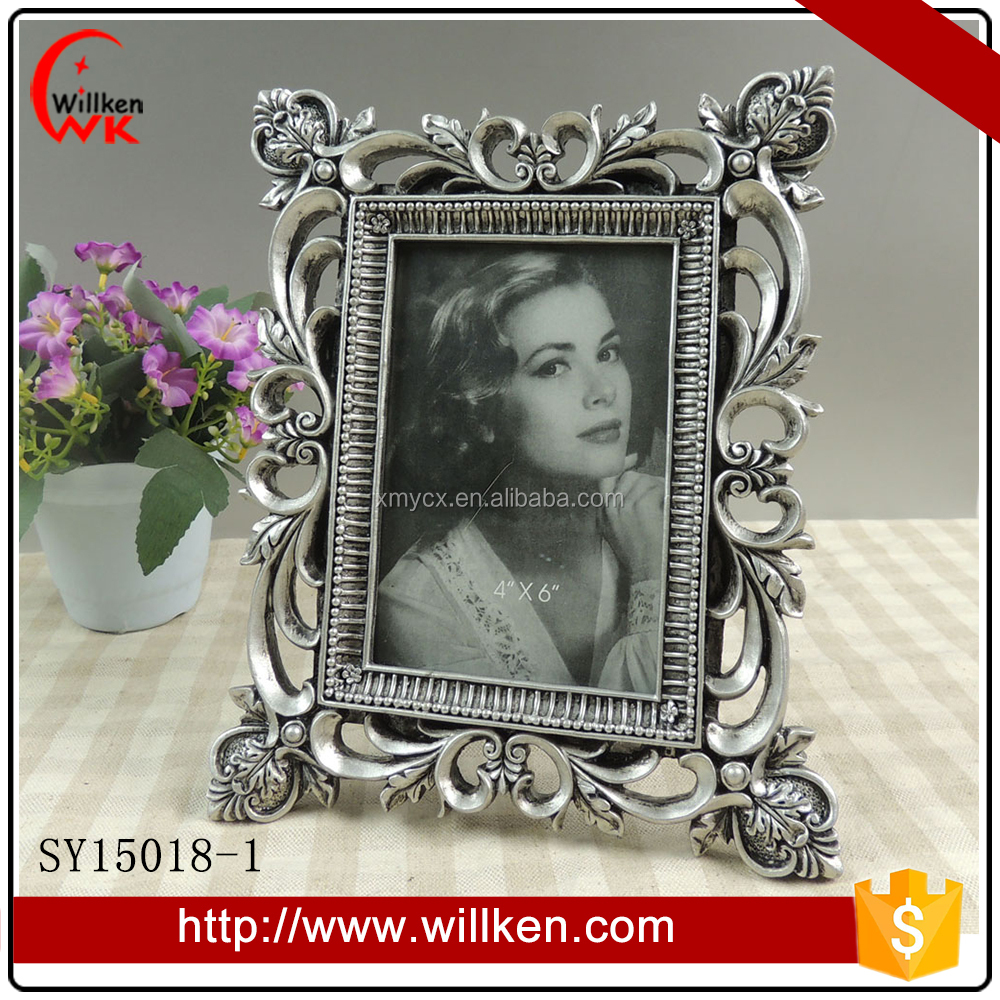 Chinese Sexy Girls Photo Picture Frame Silver