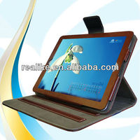 2014 Hot selling stand function PU leather case for ipad 4 with strong magnetic closure button