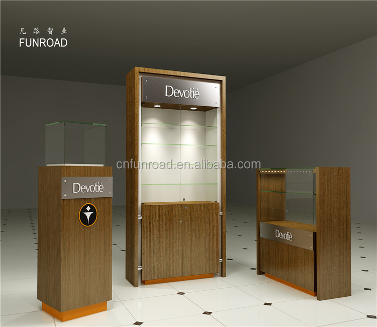 luxury watch display counter funiture for retail shop