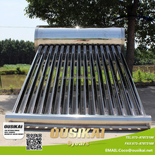 Compact No Pressurized Stainless Steel Solar Water Heater Price(150L)