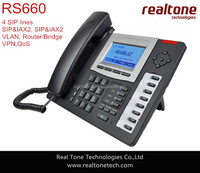 High Quality RS660 Good IP Phone Support MWI Mute Conference SIP Phone For Asterisk