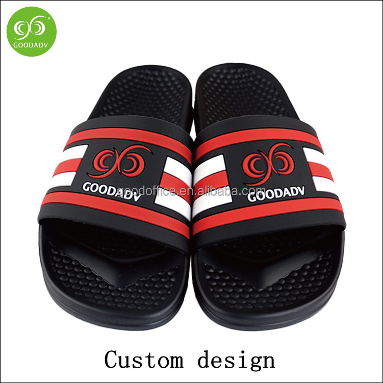 Custom high-end soft and comfortable pu sole household slippers with pvc strap
