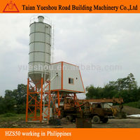Automatic 50m3/h concrete batching plant