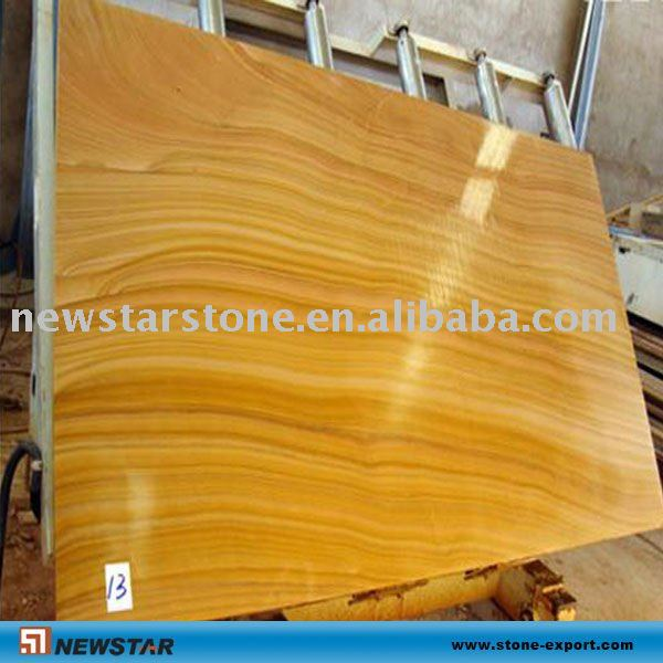 yellow wooden sandstone slab and tile
