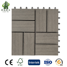 Easy lock composite wood waterproof outdoor portable deck tiles