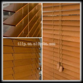 Wooden Venetian blinds window shades wood blinds