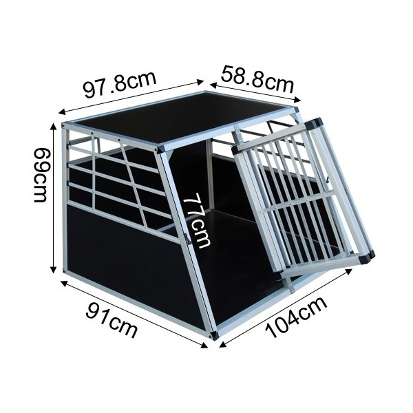 Double Door Aluminum Dog Cage