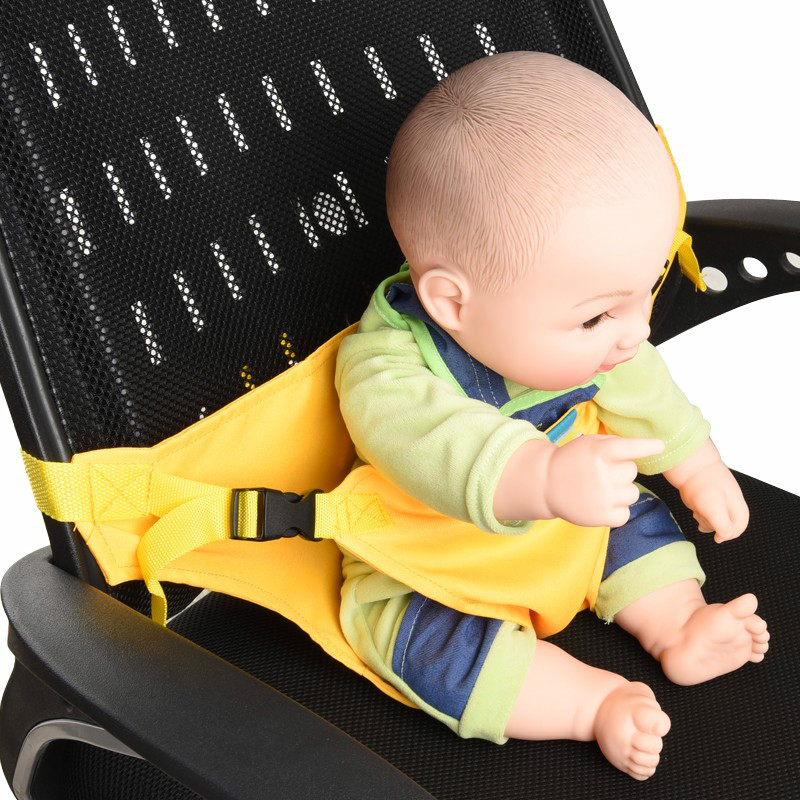 8 Colors Kids Chair Booster stretch wrap Portable Infant Seat Product Dining Lunch Safety Belt Feeding High Chair Harness Baby F