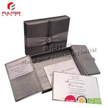 Wholesale wedding invitation silk boxes in Dongguan