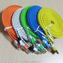 Factory Maufacturer Noodle Micro Charger Cable Android Flat Micro Usb Cable