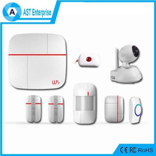 Smart Home Burglar Alarm System with Pepper sprays self defense WiFi+PSTN, WiFi+2G, WiFi+3G optional