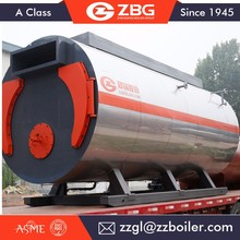 Automatic small oil gas fired hot water boiler, wns gas oil lpg fired steam boiler for sale