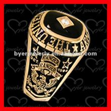 gold plated black opal military ring in good sales