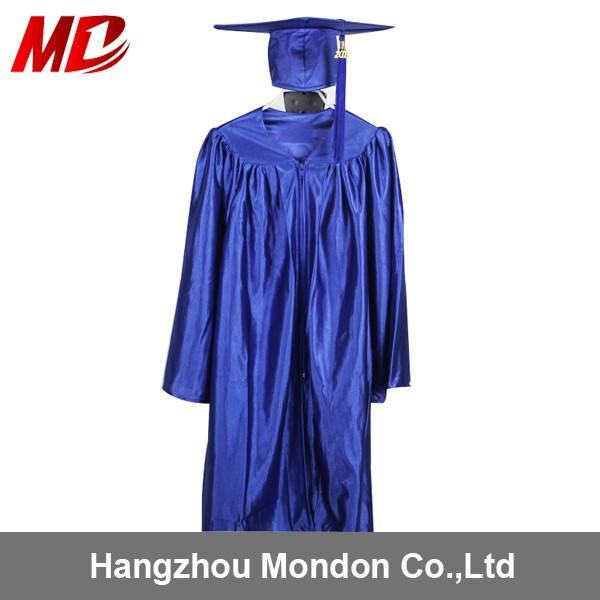 Blue Graduation Cap and Gown
