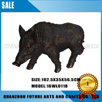 Life Size Animal Wild Boar Sculpture Statue (16WL0118/0119)