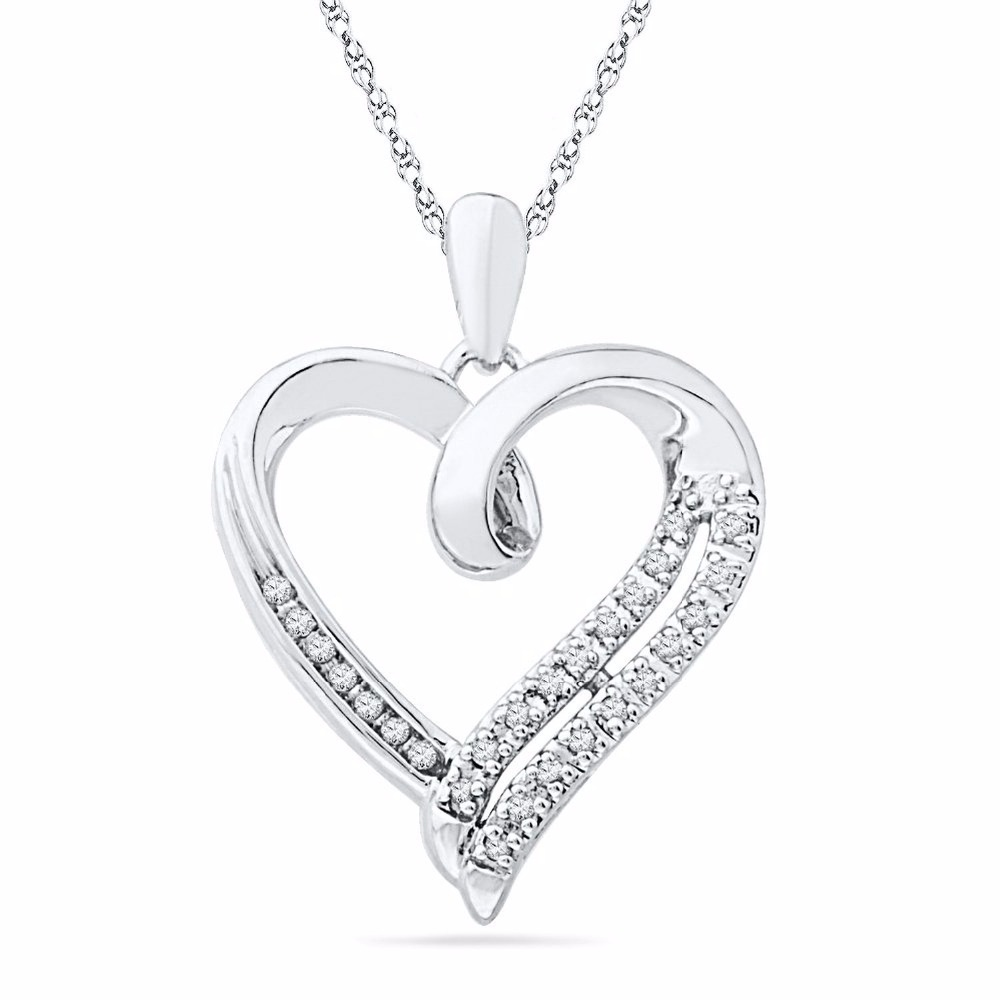 Wholesale 925 Sun Silver Heart CZ Shape Necklace With High Quality For Women Jewelry