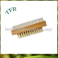 Professional bamboo double sided mini folding hair brush with mirror