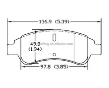 brake pad installation D1213 4252.18 for Citroen PEUGEOT front best brake pads brands