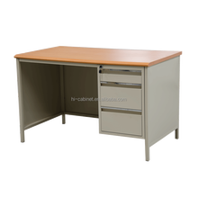 Office Desk MDF Board Three Drawers Table School Wood-Steel Top Single Side Drawer Computer Desk Metal Teacher book Desk