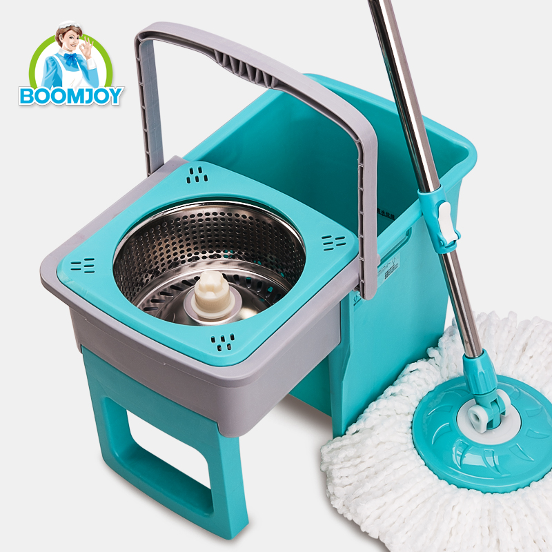 new 360 rotating telescopic steel handle foldable drawer type magic spin mop bucket