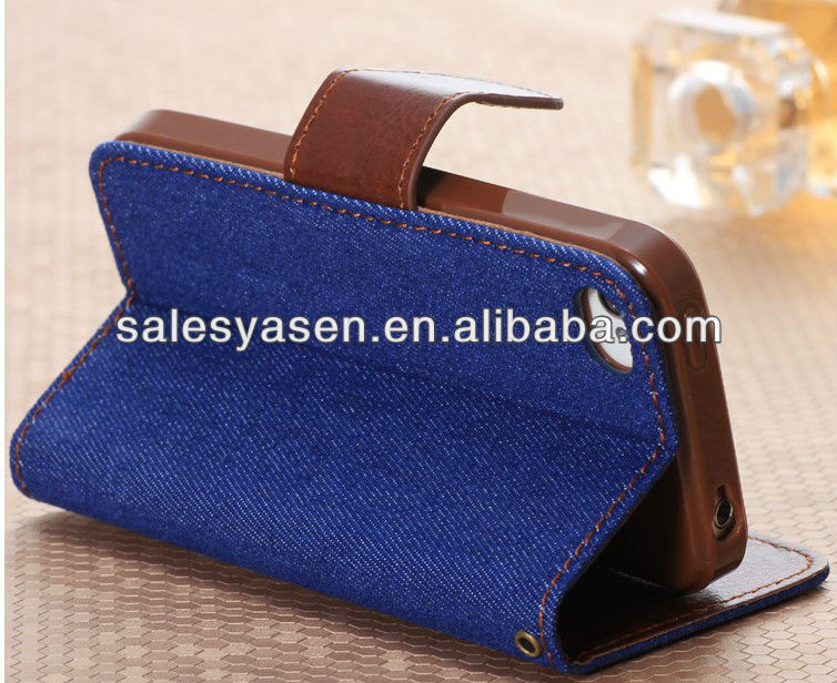 high quality cell phone leather case for iphone 5