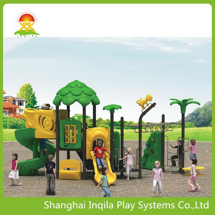2016 new arrival outdoor playground slide cartoon roof